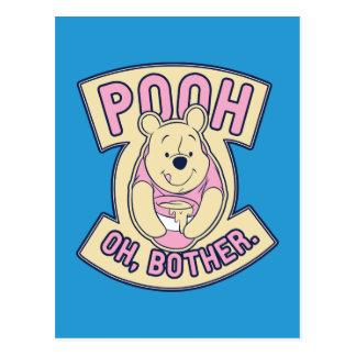 Preocupación de Winnie the Pooh el | bah oh Tarjetas Postales