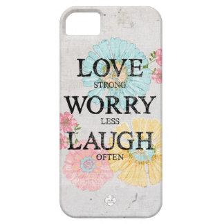 Preocupación fuerte del amor menos risa a menudo iPhone 5 fundas