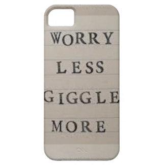 Preocupación menos risita más iPhone 5 fundas