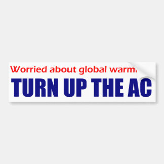 ¿Preocupado del calentamiento del planeta ¡Dé vue Pegatina De Parachoque