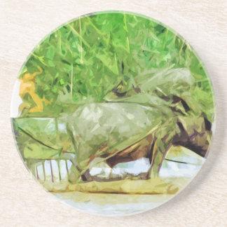 Preparación de campos del arroz con el extracto de posavasos de arenisca