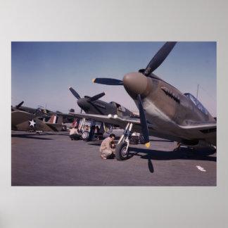 Preparación del mustango P-51, 1942 Póster