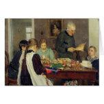 Preparación para el navidad, 1896 felicitacion