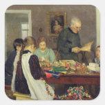 Preparación para el navidad, 1896 calcomanías cuadradas
