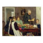 Preparación para el navidad, 1896 postales