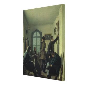 Preparaciones para cazar, 1836 impresiones en lona estiradas