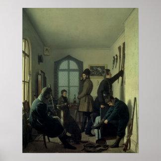 Preparaciones para cazar, 1836 poster