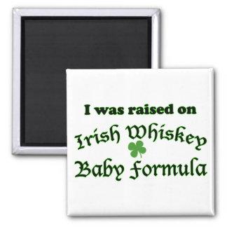 Preparado para bebés irlandés del whisky imán cuadrado