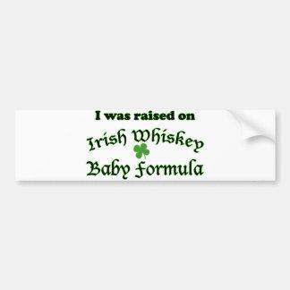 Preparado para bebés irlandés del whisky pegatina para auto