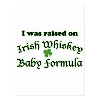 Preparado para bebés irlandés del whisky postales
