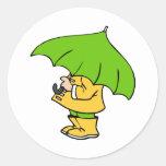 preparado para la lluvia etiqueta redonda