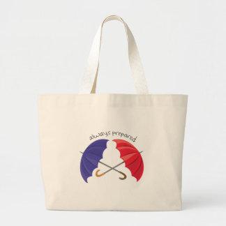 Preparado siempre bolsas de mano