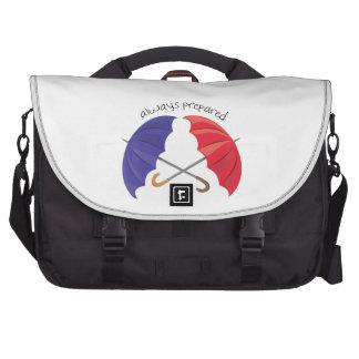 Preparado siempre bolsas para portátil