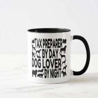 Preparador de impuesto del amante del perro