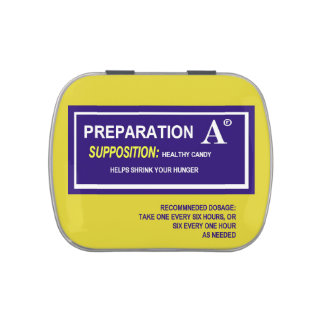 Preparation A candy: Medical gag gift Jelly Belly Tin