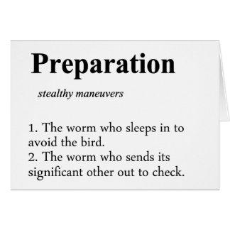 Preparation Definition Card