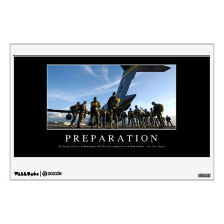 Preparation: Inspirational Quote Wall Sticker