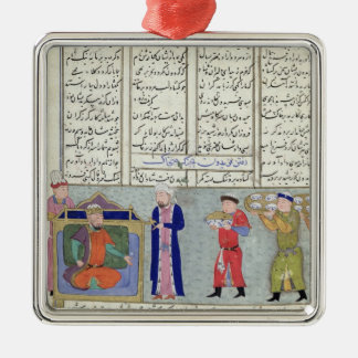 Preparation of the feast ordered by Feridun Metal Ornament