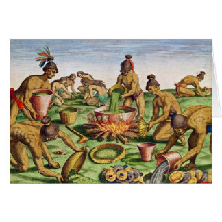 Preparations for a Feast, from 'Brevis Greeting Card