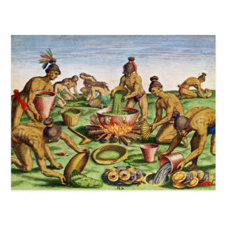 Preparations for a Feast, from 'Brevis Postcard