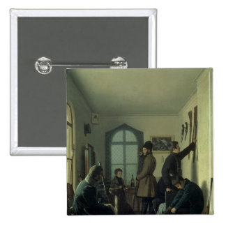 Preparations for Hunting, 1836 2 Inch Square Button