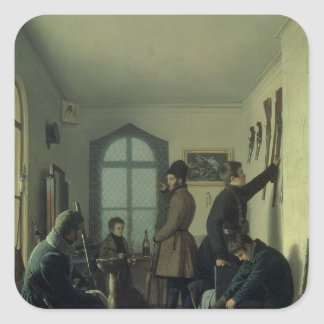Preparations for Hunting, 1836 Square Sticker