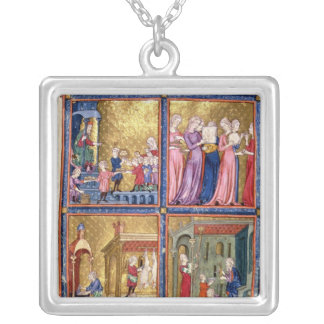 Preparations for the Passover Square Pendant Necklace