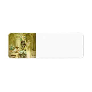 Preparations for the Procession by Jean Vibert Return Address Label