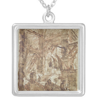 Preparatory drawing for plate number VIII Silver Plated Necklace