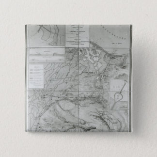Preparatory Map of the Suez Canal, 1855 Pinback Button