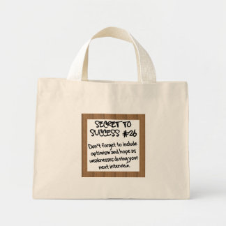 Prepare for Interviews in Advance Mini Tote Bag