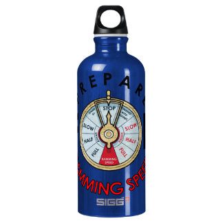 Prepare for Ramming Speed Aluminum Water Bottle