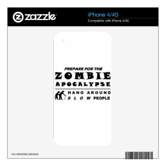 Prepare for the zombie decal for the iPhone 4