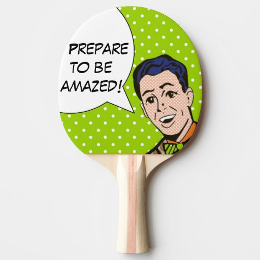 Prepare to be Amazed Comic Book Ping Pong Paddle | Zazzle