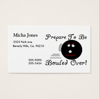 Prepare To Be Bowled Over Business Card