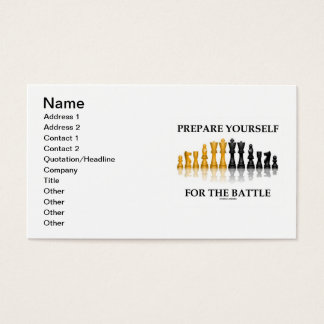 Prepare Yourself For The Battle (Chess) Business Card