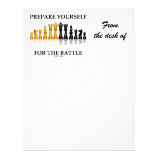 Prepare Yourself For The Battle (Chess) Letterhead