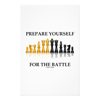 Prepare Yourself For The Battle (Chess) Stationery