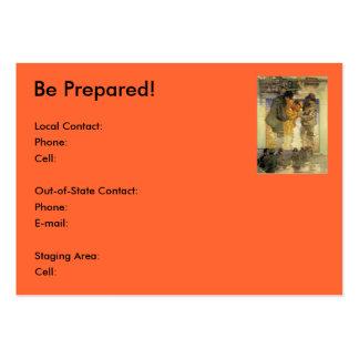 ¡Prepárese! (Emergencia, desastre, tiempo severo) Tarjetas De Visita