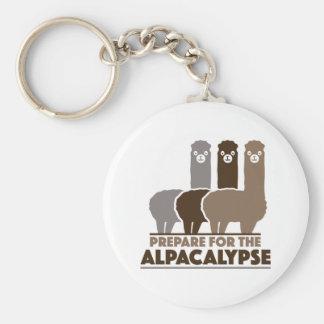 Prepárese para el Alpacalypse Llavero Redondo Tipo Pin