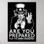 Prepárese para el poster de la apocalipsis del zom