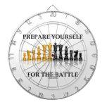 Prepárese para la batalla (el ajedrez) tabla dardos