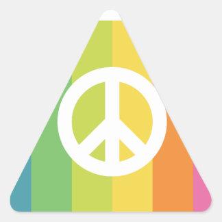 Prepárese para la revolución calcomanías de triangulos personalizadas