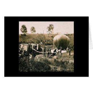 Preparing a Military Balloon, Gaines Mill, VA 1862 Card