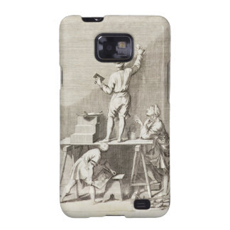 Preparing a wall for fresco painting (engraving) galaxy s2 cover