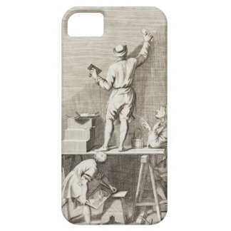 Preparing a wall for fresco painting (engraving) iPhone 5 cases
