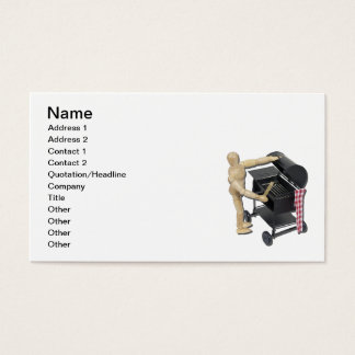Preparing Barbecue Grill Business Card