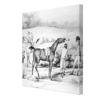 Preparing for a Race Gallery Wrapped Canvas