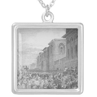 Preparing for an Execution Silver Plated Necklace