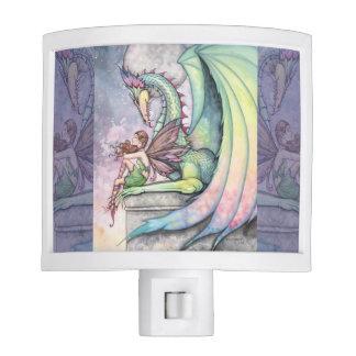 Preparing for Flight Fairy and Dragon Art Night Light
